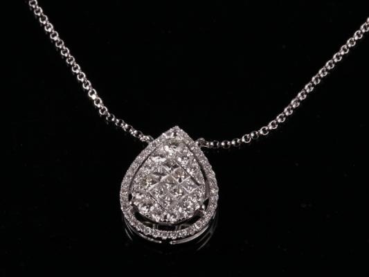 Dây chuyền Kim cương thiên nhiên DK 28