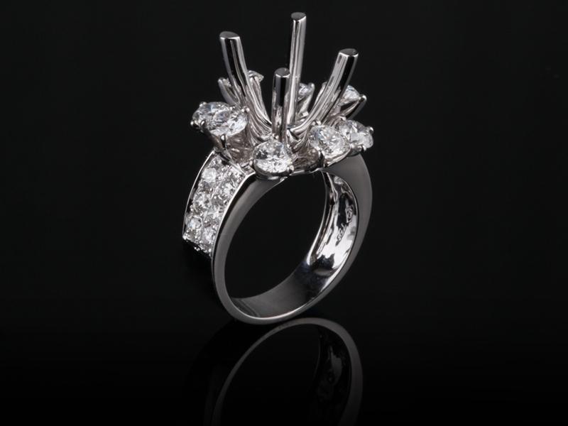 Ổ Nhẫn Kim cương Nữ NK 579 1