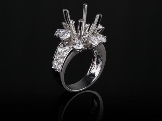 Ổ Nhẫn Kim cương Nữ NK 579