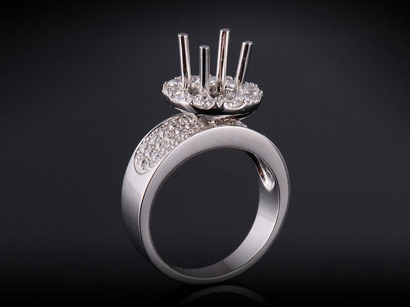 Ổ nhẫn kim cương thiên nhiên NK 2457 1
