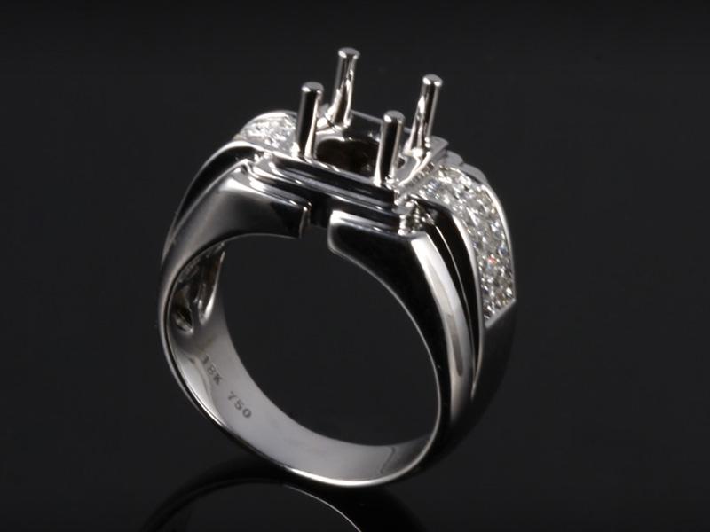 Ổ Nhẫn kim cương thiên nhiên NK 668 1