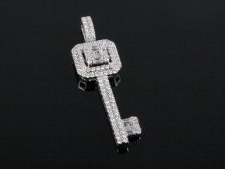 Mặt Dây kim cương thiên nhiên vàng trắng MK 407