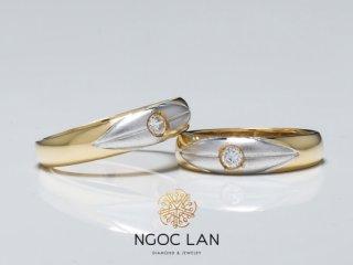 Nhẫn cưới vàng hai màu NC 1086 - NC 1087