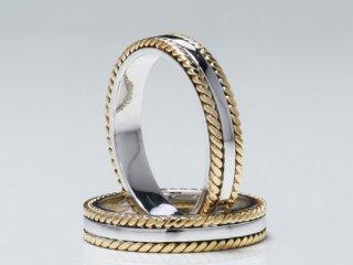 Nhẫn cưới vàng hai màu NC 1146 - NC 1147
