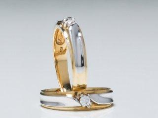 Nhẫn cưới vàng hai màu NC 1348 - NC 1349