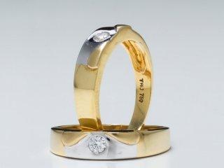 Nhẫn cưới vàng hai màu NC 141 - NC 142