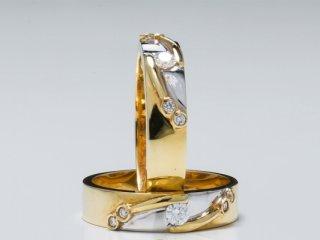 Nhẫn cưới vàng hai màu NC 1704 - NC 1705