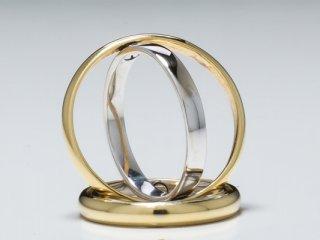 Nhẫn cưới vàng hai màu NC 1886 - NC 1887