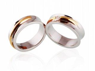 Nhẫn cưới vàng hai màu NC 522 - NC 523