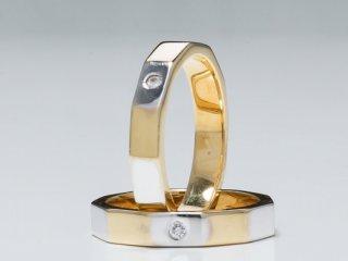 Nhẫn cưới vàng hai màu NC 7 - NC 8
