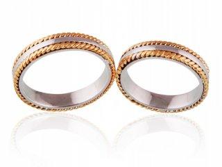Nhẫn cưới vàng hai màu NC 800 - NC 801