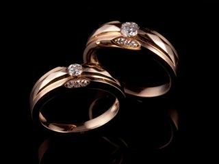 Nhẫn cưới vàng hồng NC 1624 - NC 1625