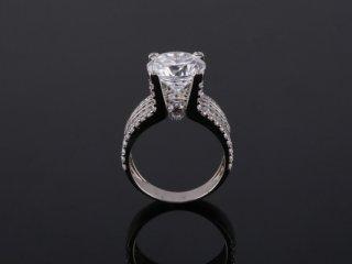 Nhẫn nữ vàng trắng 18k NT 833