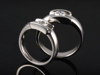 Nhẫn cưới vàng trắng NC 1912 - NC 1913