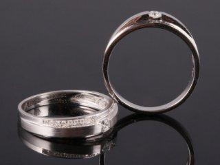 Nhẫn cưới vàng trắng NC 2064 - NC 2065