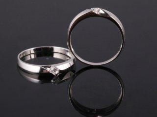 Nhẫn cưới vàng trắng NC 2104 - NC 2105