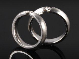 Nhẫn cưới vàng trắng NC 411 - NC 412