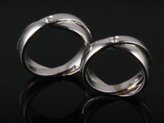 Nhẫn cưới vàng trắng NC 421 - NC 422