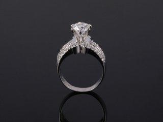 Nhẫn nữ vàng trắng 18k N 530