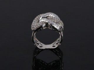 Nhẫn nữ vàng trắng 18k N 620