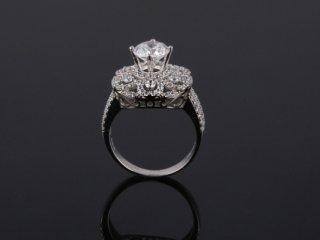 Nhẫn nữ vàng trắng 18k N 752