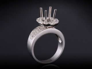 Ổ nhẫn kim cương thiên nhiên NK 2457